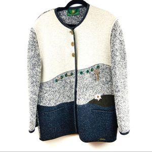 NWOT Giesswein Wool Button Cardigan Sweater sz 10